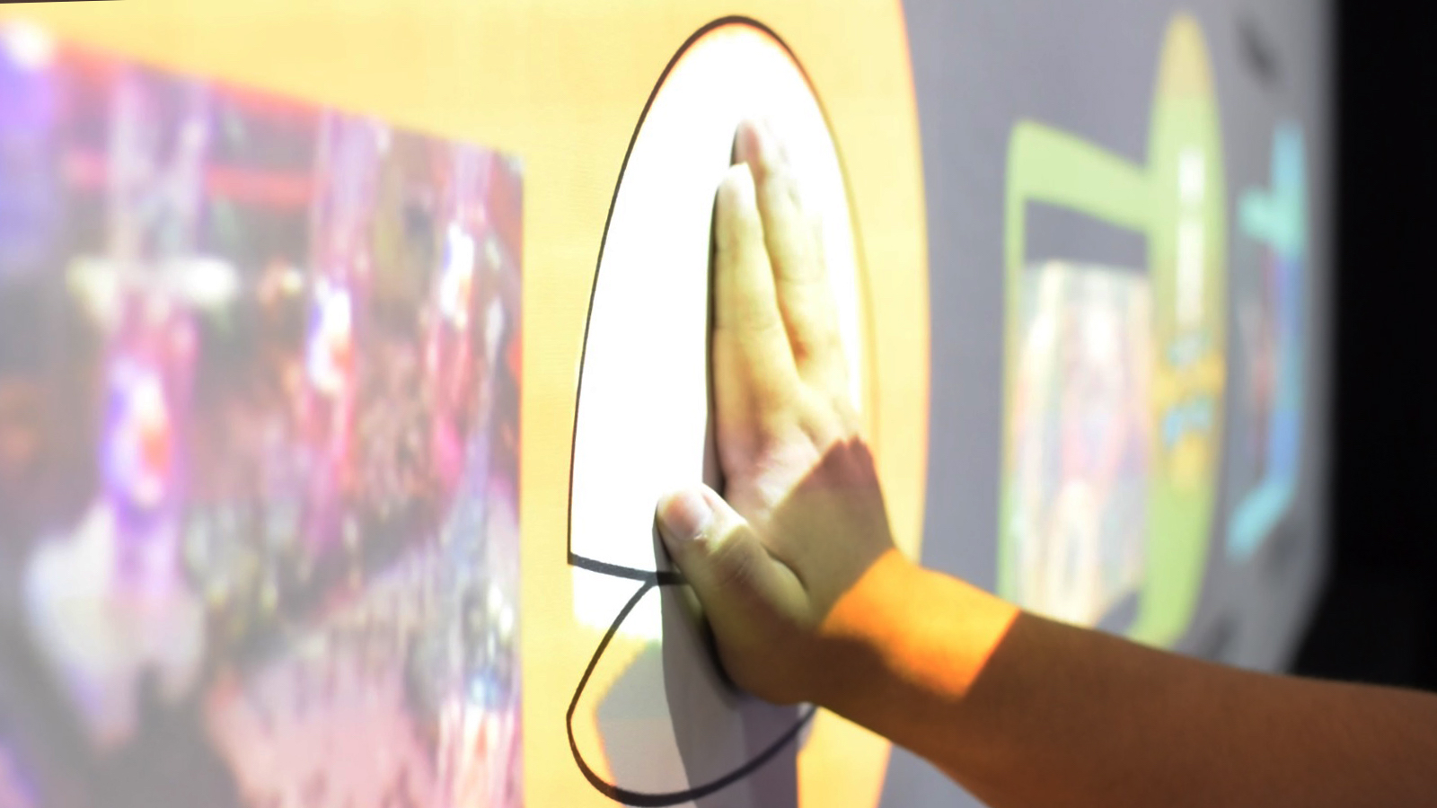 Digital Jalebi Touch Wall Projection